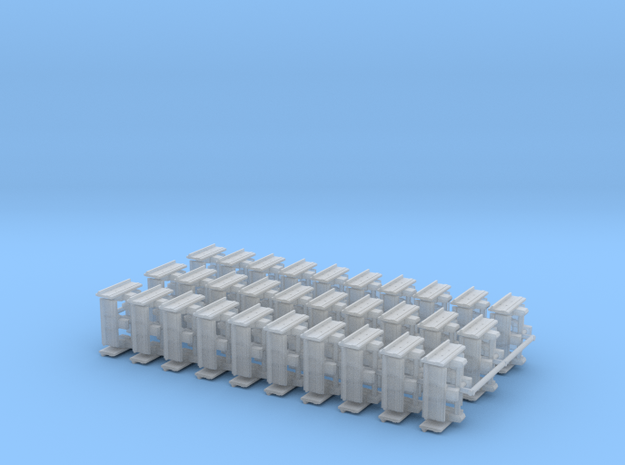 """1/87th Equipment track link set 1. 120 links 24"""" w in Smooth Fine Detail Plastic"""