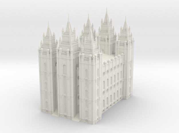 SLC LDS Temple in White Natural Versatile Plastic
