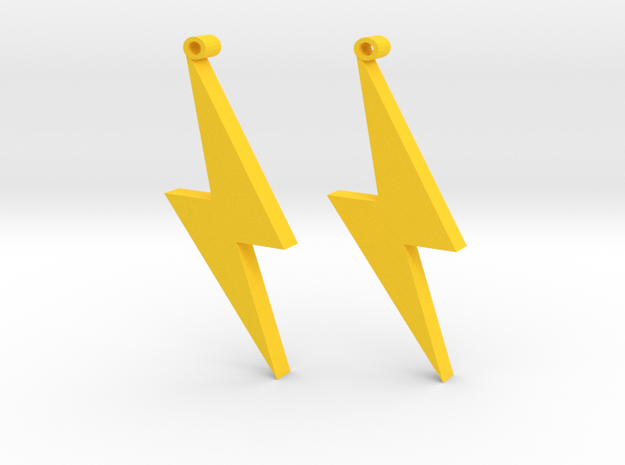 lightning Strike in Yellow Processed Versatile Plastic