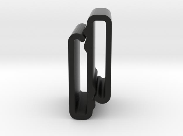 S Belt Clip Single Strap Molle (Medium Duty) in Black Natural Versatile Plastic