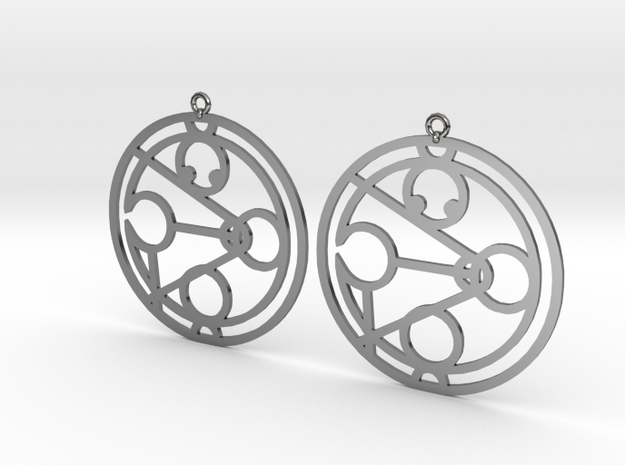 Jamocah - Earrings - Series 1 in Fine Detail Polished Silver