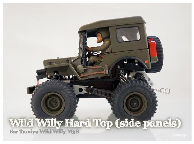 Simensays Wild Willy Hard Top (side panels) in White Processed Versatile Plastic