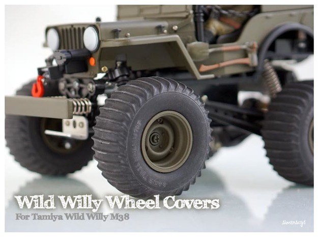 Simensays Wild Willy Wheel Covers in White Processed Versatile Plastic
