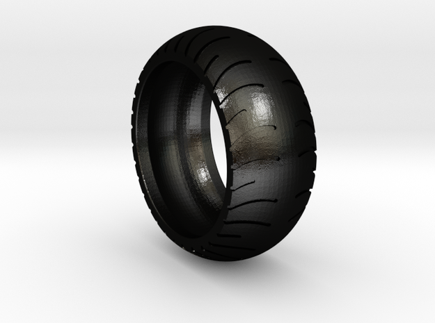 Chopper Rear Tire Ring Size 13 in Matte Black Steel