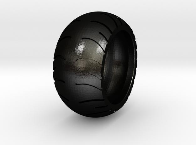 Chopper Rear Tire Ring Size 7 in Matte Black Steel