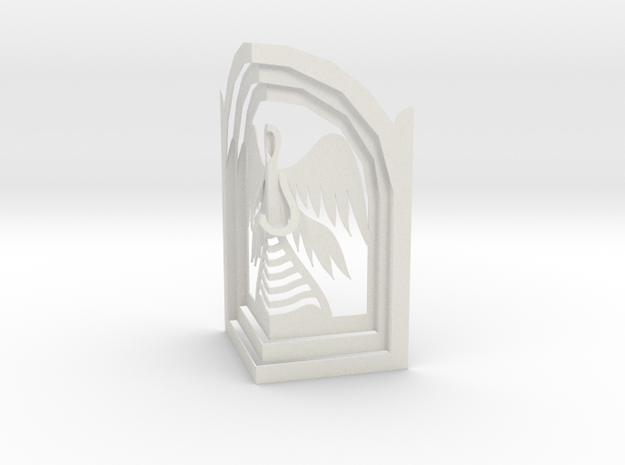 Angel - Prayer in Kiosk in White Natural Versatile Plastic