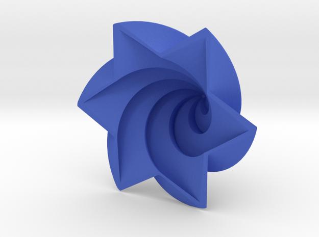 Hexagram Spire in Blue Processed Versatile Plastic