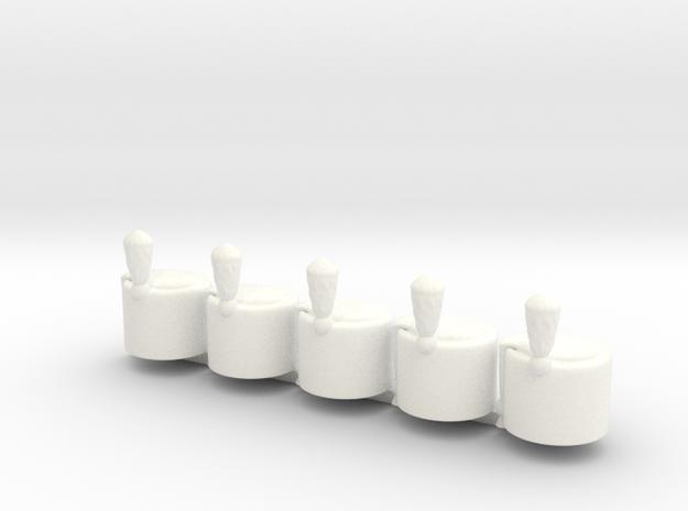 5 x Hussar V2  in White Processed Versatile Plastic