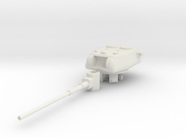 1/100 KVS-2 turret, 150mm cannon in White Natural Versatile Plastic