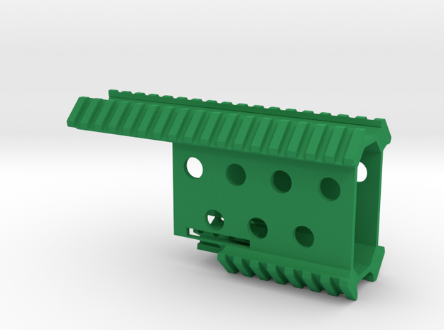 Vik Pistol Quad Rail in Green Processed Versatile Plastic
