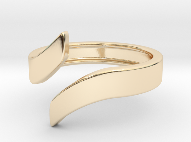 Open Design Ring (28mm / 1.10inch inner diameter) in 14K Yellow Gold