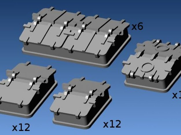 1:200 SkyLightsx4type on deck for vessels 3d printed
