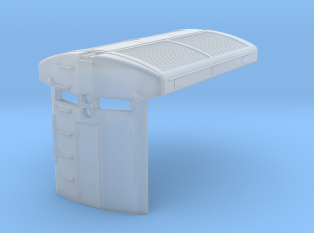 U33C radiator and hood end (1/160) in Smooth Fine Detail Plastic