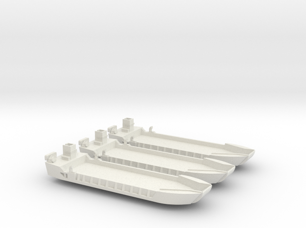 1/350 scale LCT-5 3 Off Closed Doors in White Strong & Flexible