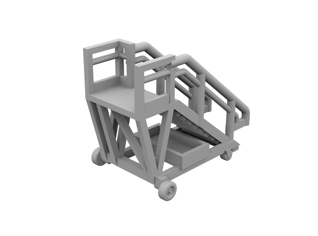 1:400 - Airstair_v1 [x5] in Smooth Fine Detail Plastic
