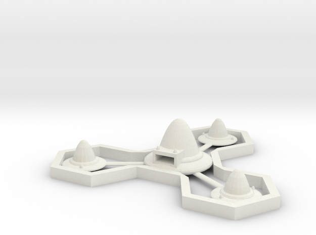 Hexy Space Station in White Natural Versatile Plastic