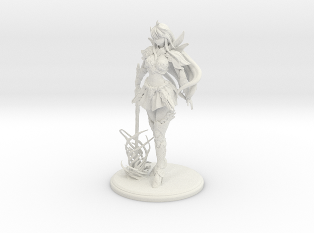 Ink-chan Figurines in White Strong & Flexible