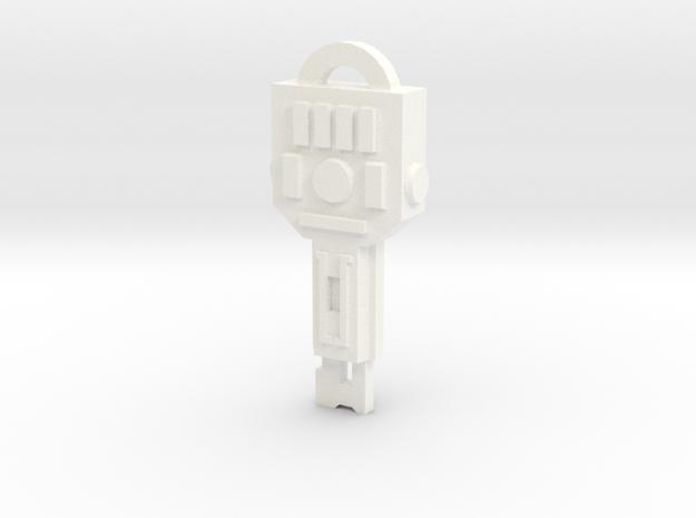 idw: Vector Sigma key in White Processed Versatile Plastic