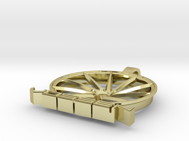 Vossen Ghetto CVT Pendant in 18k Gold Plated Brass