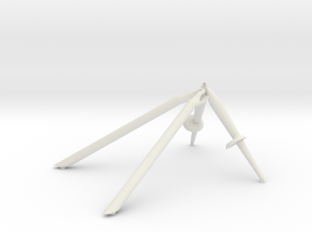 +Z-Landing Gear Outrigger in White Strong & Flexible