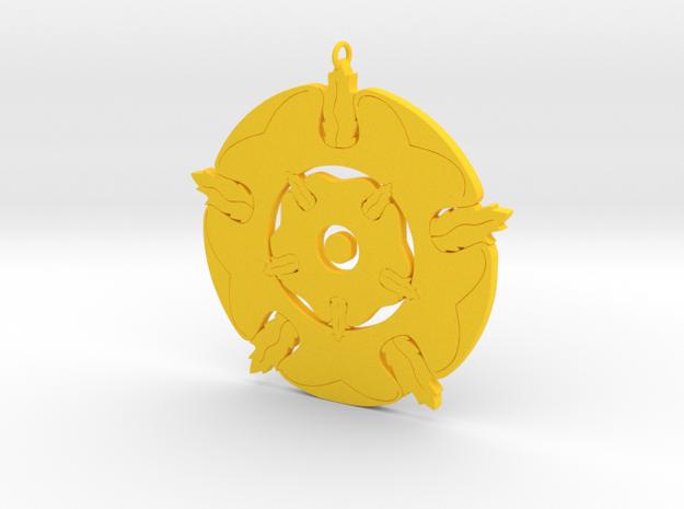 Tyrell Pendant in Yellow Processed Versatile Plastic