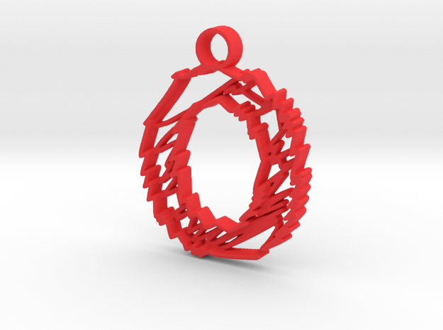 "Sketch ""O"" Charm in Red Processed Versatile Plastic"