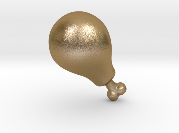 Chicken Drumstick Leg in Polished Gold Steel