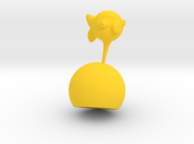 Babel Fish On Stand in Yellow Processed Versatile Plastic