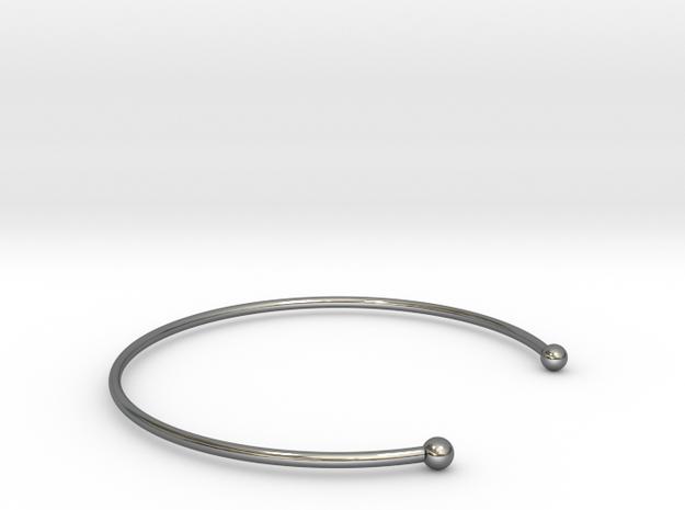 BRACELET Ø 55.60 MEDIUM 17.4 CM in Premium Silver
