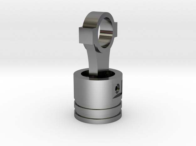 Piston Pendant in Premium Silver