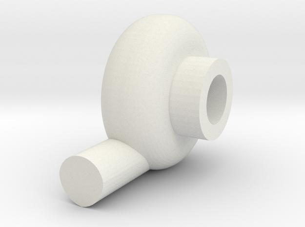 HD Turbo Intake-side in White Natural Versatile Plastic