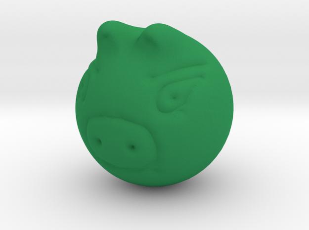 Real  Green Piggy in Green Processed Versatile Plastic
