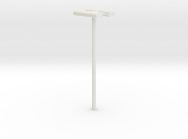 DSB Stations lampe (dobbelt) 1/87 in White Natural Versatile Plastic
