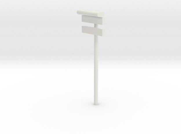DSB Stations lampe med stations skilt og undertavl in White Natural Versatile Plastic