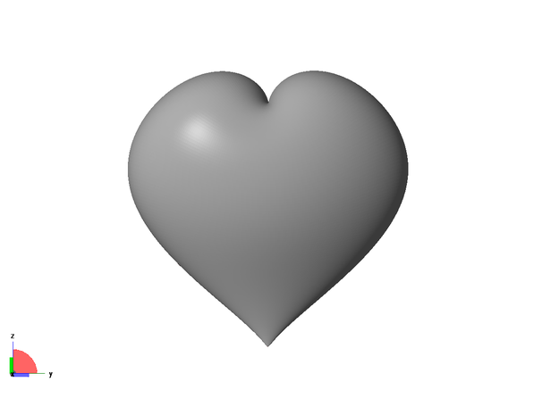 Love heart 3d printed front