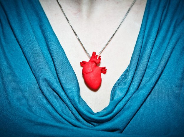 Anatomical Heart Hanger Pendant