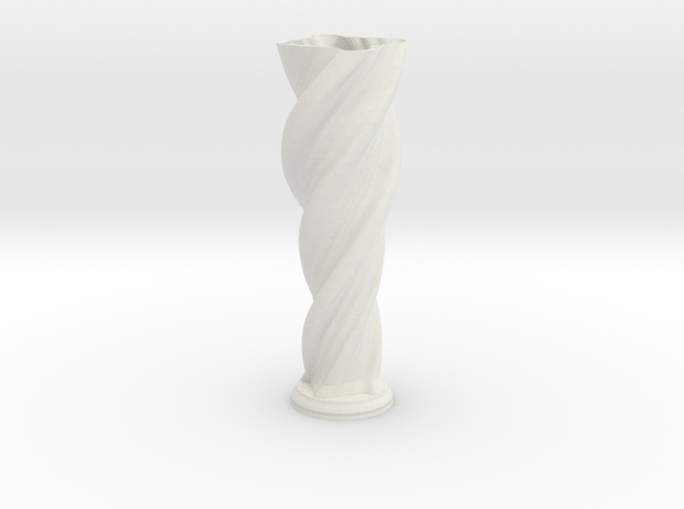 "Vase 'Anuya' - 50cm / 19.5"" in White Natural Versatile Plastic"