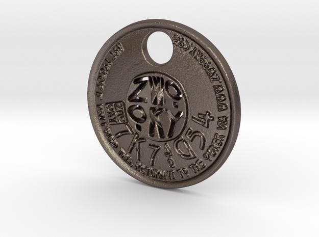 ZWOOKY Style 228 - pendant ZWOOKY in Polished Bronzed Silver Steel