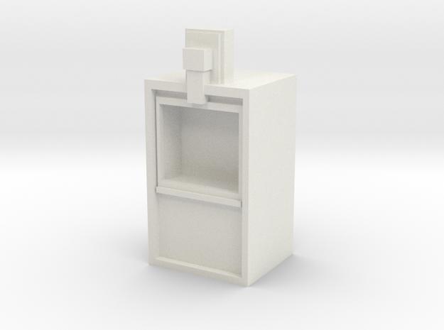 Newspaper rack 1/29 scale in White Natural Versatile Plastic