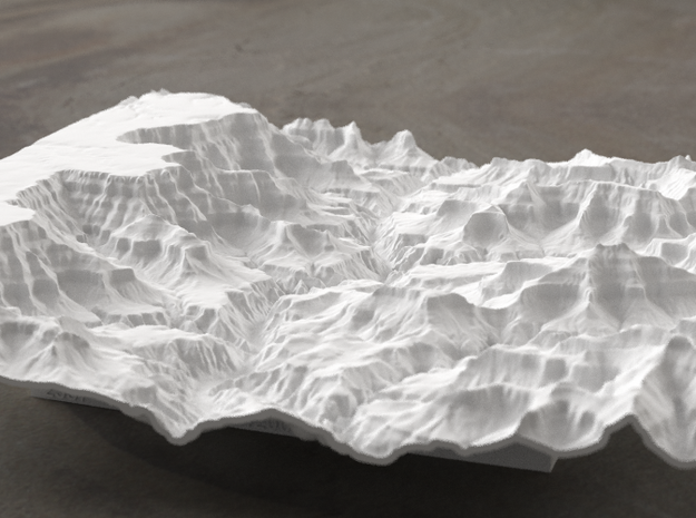8'' Grand Canyon Terrain Model, Arizona, USA in White Natural Versatile Plastic