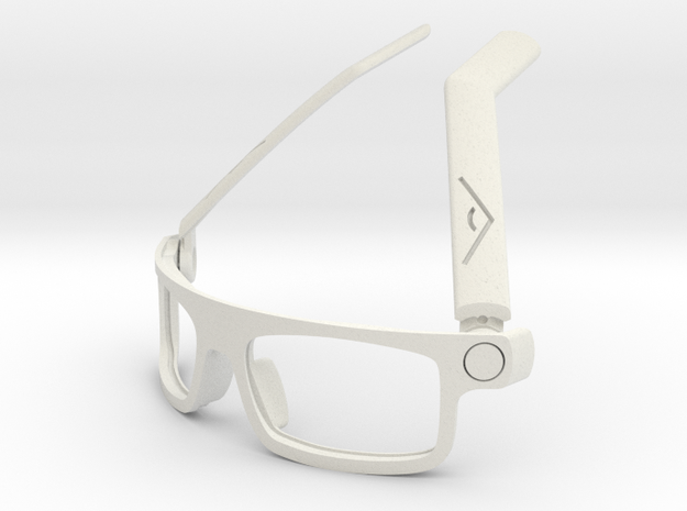 BoomGlasses 3d printed White: Ready for you to colour using synthetic dyes or wear as is