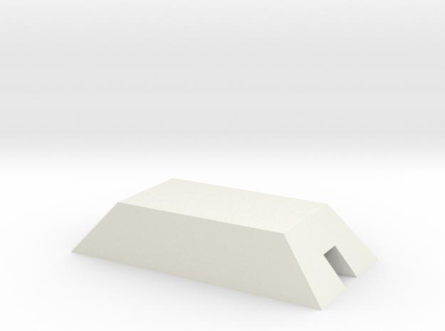 1/350 Concrete Bunker 2 in White Natural Versatile Plastic