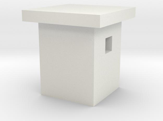 1/350 Concrete Bunker 3 in White Natural Versatile Plastic