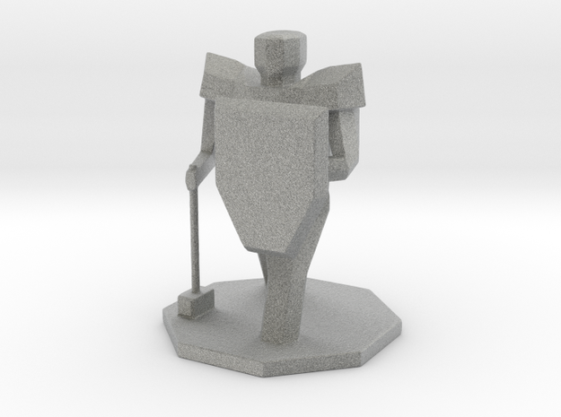DND Paladin Figure in Metallic Plastic