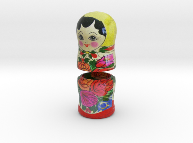 Russian Matryoshka - Piece 6 / 7 in Full Color Sandstone