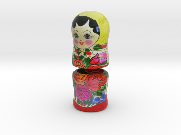 Russian Matryoshka - Piece 5 / 7 in Full Color Sandstone