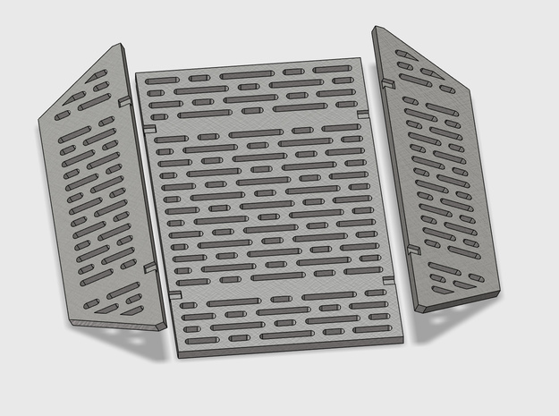YT1300 DEAGO HALL PITS GRILLE  in Smooth Fine Detail Plastic