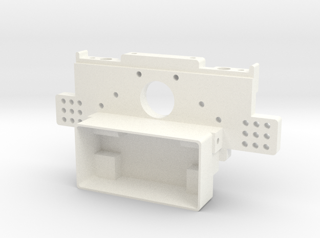 RC10 Rear Bulkhead V2 in White Strong & Flexible Polished