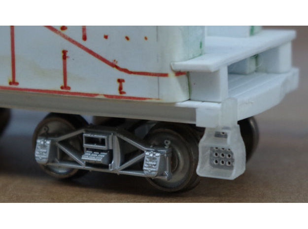 10x Southern Ry. Tender Steps - HO in Frosted Ultra Detail
