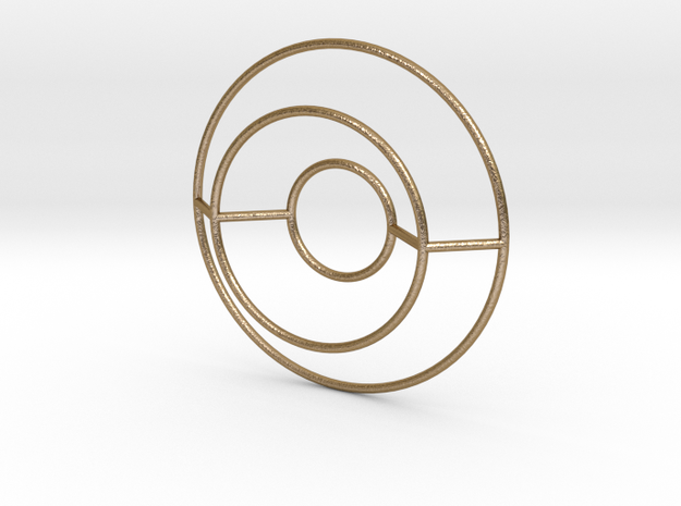 O Typolygon. in Polished Gold Steel
